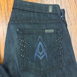 7 For All Mankind Blingy A Pocket Jeans Sz 27